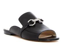 NIB Louise Et Cie Caila Women 8.5 38.5 Black Leather Slip On Mule Shoes Sandals