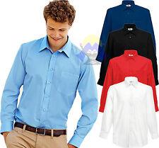 Camicia Uomo FRUIT OF THE LOOM Manica Lunga S M L XL XXL XXXL Popeline 65-118-0