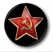 RED ARMY STAR - 1 inch / 25mm Button Badge - Novelty Cute Soviet CCCP Lenin USSR