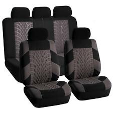 Car Seat Covers for Auto Car SUV Full Set Split Bench Gray Black