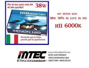 Kit Xenon Slim H11 6000k 38W // 30% in piu di luce dai normali Xeno // CANBUS