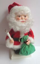 Vintage Animated Moving Santa Claus Christmas Figure Lit Candle Light Battery