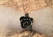 SILPADA R2207  Oxidized Sterling Silver Rosette Flower Ring Size 8 New
