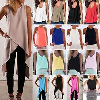 Women's Sleeveless T-Shirt Loose Summer Casual Blouse Shirt Tank Tops Plus Size