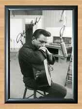 Johnny Cash Music Autographed Signed A4 Print Poster Photo Picture Memorabilia
