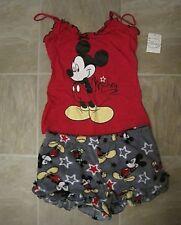 Disney Mickey Mouse Cami / Plush Shorts Sleep Set Pajama 2 PC XS M or XL LASTONE