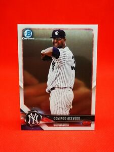 Topps 2018 chrome carte card Baseball NM+/M New York Yankees BCP32 Acevedo