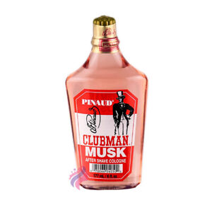 Pinaud Clubman MUSK After-Shave Lotion/Cologne Cools Skin 6 oz. Barber for Men