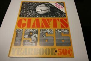 1966 SAN FRANCISCO GIANTS MLB BASEBALL MID-SEASON YEARBOOK VERY RARE WILLIE MAYS