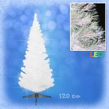 120 cm LED Weihnachtsbaum mit farbwechselnde Lichtfasern WEISS Ёлка