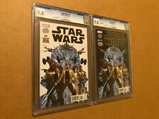 STAR WARS #1 JOHN CASSADAY COVER FIRST PRINT 3/15 AND SECOND PRINT 4/15 CGC 9.8!