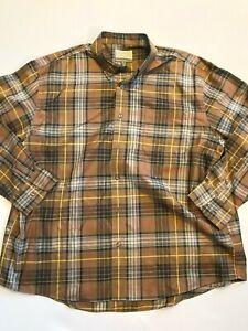 Cabela's Shirt Men's 2XL Button Up Brown Plaid