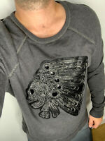 Ralph Lauren D&S Grey Sweater Shirt Indian Chief Skull RRL Polo Rugby Aztec M/L