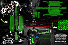 TRAXXAS E-REVO SUMMIT CHASSIS PRINTED CARBON FIBER HOP UP GRAPHICS DECALS GREEN