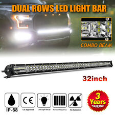 super slim 32INCH LED Light Bar 500W Offroad truck Flood Spot Combo Beam PK 30""