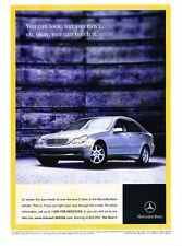2001 Mercedes Benz C-Class C240 - Original Advertisement Car Print Ad J309
