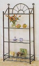 Black Metal Sunburst Book Case Bookcase Shelf by The Furniture Cove
