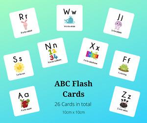 Educational Flash Cards  - ABC Full Colour** - EYFS/ Preschool/ Toddler/ SEN