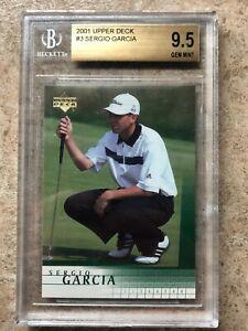 2001 UD Upper Deck Golf #3 SERGIO GARCIA Rookie RC Graded BGS 9.5