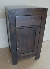 Damaged Solid Oak 45cm x 45cm Vanity Bedside Cabinet Cupboard TV Cabinet WENGE