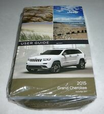 2015 JEEP GRAND CHEROKEE USER GUIDE OWNERS MANUAL SET DVD SRT w/case 15 NEW
