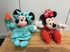 """Disney Statue Of Liberty 9"""" Minnie Mouse Soft Toy Beanie + One Other Mattel"""