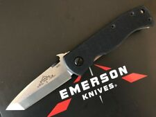 Emerson Knife MINI CQC-7BW-SF Stonewash Plain Edge - Standoffs - Prestige Dealer