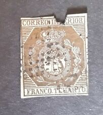 ESPAÑA-SPAIN-1853 edifil n.22 sello usado,ligeramente roto en la parte superior,