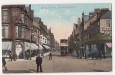 King Street South Shields 1911 Tram Postcard, B655