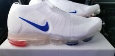 Nike Air max Vapormax 2019 flyknit 2 white red blue laceless Sneakers MOC sz 9