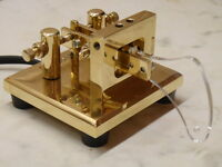 CT 755 L Single Magnet Tension Brass Lever Paddle. Travelling, QRP. New&B'd