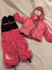 Spyder Ski Suit Kids Toddler Size 2T Girls Pink Snow Bibs Pants Jacket