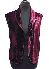 EMMANUEL SCHVILI Gilet Donna Velluto Velvet Woman Waistcoast Sz.M - 44