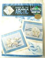 Great Big Graphs Dance of the Arctic Cross Stitch Kit Polar Bear mom cubs 28 ct