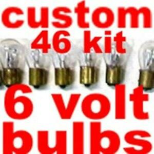 46 bulbs & fuses for Nash or Hudson 1948 to 1953- complete 6 volt light bulb ki