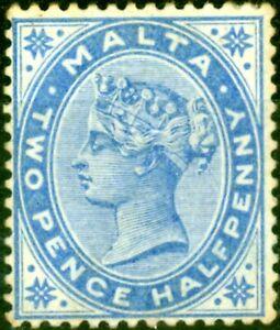 Malta 1885 2 1/2d Dull Blue SG24 Fine Lightly Mtd Mint