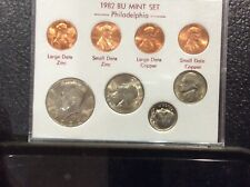 1982 P Brilliant Uncirculated coin set w/ zinc and copper penny varieties