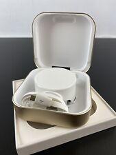 Nuevo Reloj-Apple Vidrio Color Ámbar A1 Banco de Alimentación Cargador De Viaje Reloj-Oro