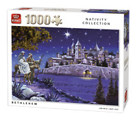 1000 Piece Christmas Nativity Jigsaw Puzzle Star of Bethlehem Town Stables 05725