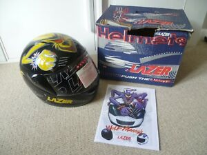 Rare Collectable Motorcycle Helmet Lazer LZ6 Wolf Mania 1996 XS New Old Stock