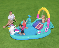 New - H2Ogo! Magical Unicorn Carriage Inflatable Play Pool Center by Bestway
