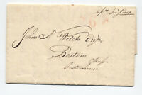 1828 Malta stampless letter to Boston ship 6 rate [45.254]