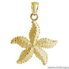 New 14k Yellow Gold Starfish Pendant