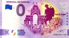 80 THIEPVAL Mémorial 4, 2020, Anniversaire, Billet Euro Souvenir