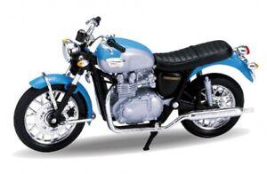 `02 Triumph Bonneville, Welly Moto Modèle 1:18