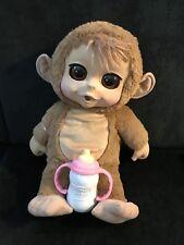 """Animal Babies Baby Chimpanzee 14"""" Plush Electronic"""