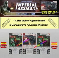 STAR WARS IMPERIAL ASSAULT 2017 T4 ESPAÑOL OP KIT - Agente Blaise + 2 Wookiee