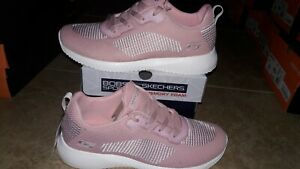 NEW Womens Skechers Bobs Squad Turn Up shoes, size 10