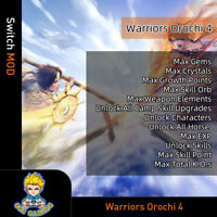 Warriors Orochi 4 (Switch Mod) -Max Gems/Crystals/Growth Points/EXP/Skill Point