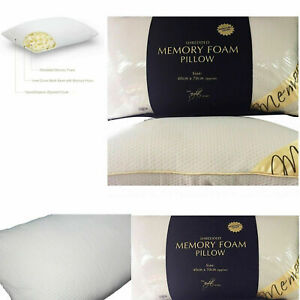 Premium Luxury Shredded Memory Foam Pillows Firm Head Neck Support Orthopaedic